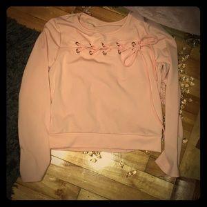 NWOT peach pink long sleeves shirt